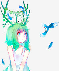 Cute Anime Hairstyles Not Really Into Anime Style But This Illustration Is Pretty Cute