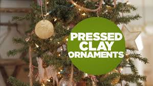 diy pressed clay ornaments hgtv