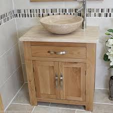 Oak Bathroom Cabinet Bathroom Vanity Unit Oak Modern Cabinet Wash Stand Travertine Top