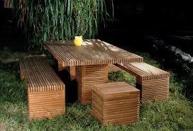 terrace garden spacious wooden garden furniture using small