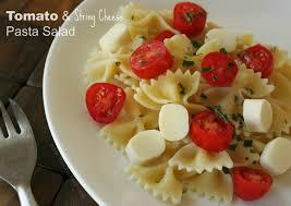 tomato u0026 string cheese pasta salad recipe