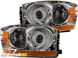 Dodge Challenger Xenon Headlights - 2006 2009 dodge ram 1500 2500 bi xenon hid retrofit headlights