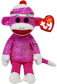 Sock Monkey Baby Bedding Amazon Com Ty Beanie Babies Sock Monkey Pink Sparkle Plush Toys