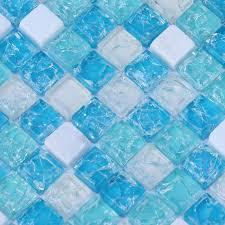 Glass And Stone Backsplash Tile by Stone Glass Mosaic Tiles Blue Ice Crystal Backsplash Tile