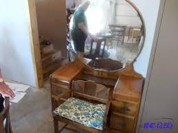 vintage vanity with round mirror st michael grandmas regarding