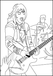 coloring page for real kids joan jett