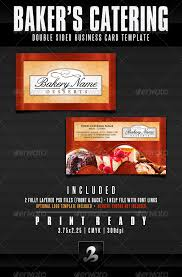 Catering Calling Card Design Baker U0027s Catering Business Card Templates Updated By Creativb