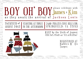 pirate baby shower invitations dancemomsinfo