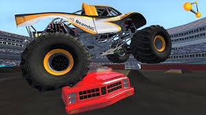 monster truck crash videos youtube beamng drive monster jam realistic freestyle crash testing crd