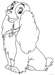 lady and the tramp coloring pages free printable coloring pages
