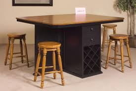 Wooden Kitchen Table by Kitchen Island Table With Stools Fantastic Small Kitchen Island
