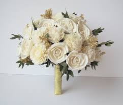brides bouquet ivory and gold bridal bouquet s flowers bridal