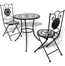 Mosaic Bistro Table Lovable White Bistro Table And 2 Chairs Mosaic Bistro Table 60 Cm