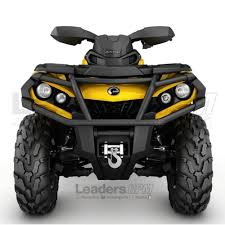 can am atv new oem front bumper xt brushguard kit outlander brush