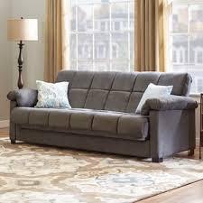 Leather Futon Sofa Futons You U0027ll Love Wayfair