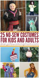 halloween costumes for mommy 25 diy no sew costumes for kids u0026 adults diary of a working mom
