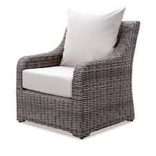 ae outdoor hill wicker outdoor lounge chair with cast