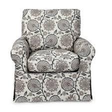 White Armchair Slipcover Swivel Rocker Slipcover Wayfair