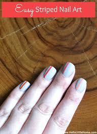 easy striped nail art jpg