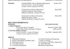 Resume Outlines Examples by Resume Outline Examples Haadyaooverbayresort Com
