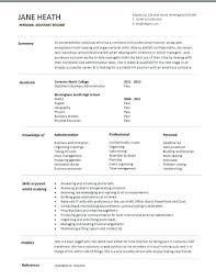 administrative assistant resume templates administrative assistant cv exles uk medicina bg info