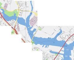 Boston Street Map Boston Cambridge Area Bridge Photos