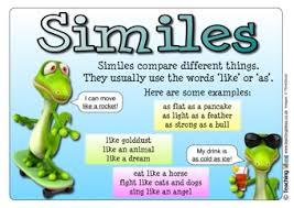 similes teaching ideas
