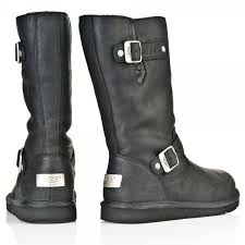 womens ugg motorcycle boots ugg black 5678 kensington womens calf boot from daniel