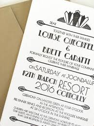 art deco wedding invitations u2014 coco press