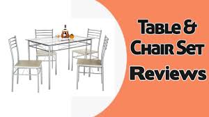 Glass Dining Table 4 Chairs Vecelo 5 Pcs Glass Dining Table With 4 Chairs Table U0026 Chair Set
