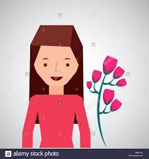 cute tulip flower cartoon icon vector illustration eps 10