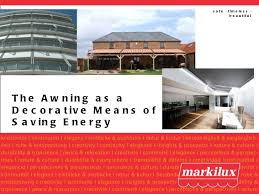 Awning Means The Awning As A Decorative Means Of Saving Energy