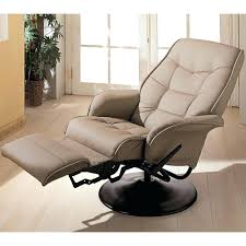 Reclining Swivel Chairs For Living Room by Leather Swivel Recliner Chair And Footstool 134 Excellent Living