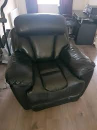 dfs supreme recliner leather sofa and electric recliner chair in