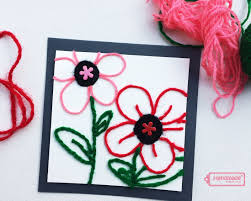 craft with kids easy handmade card using yarn video