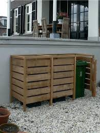 garbage bin storage unit cedar garbage can storage plans modern
