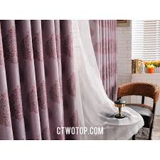 Blackout Window Curtains Purple Patterned Ready Made Elegant Blackout Window Curtains