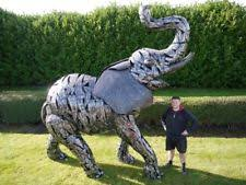 elephants metal garden statues lawn ornaments ebay