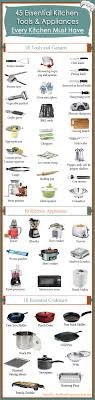 list of kitchen knives 45 essential kitchen tools and appliances every kitchen must