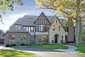 English Tudor Style House Deluxe English Tudor Style Homes With Stone Wall Material Feat