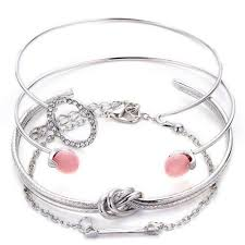 free set bracelet images Fashion simple arrow circle knot bracelets set 6 89 free jpg