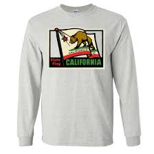 California Flag Horse California Vintage State Flag Long Sleeve Shirt California
