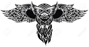 tribal owl tattoo owl royalty free cliparts vectors and stock illustration image