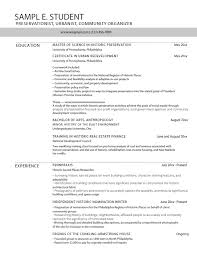 Architectural Resume For Internship Career Services At The University Of Pennsylvania