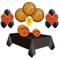 basketball party supplies basketball party supplies pack of party plates and balloons set