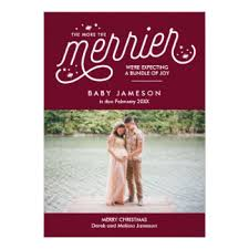 christmas pregnancy announcement pregnancy announcement cards invitations greeting photo cards