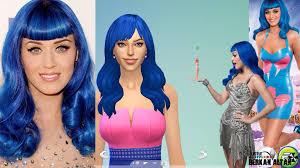 sims 4 blue hair the sims 4 cas katy perry california gurls blue hair youtube