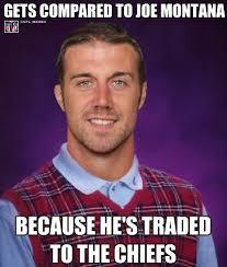 Alex Smith Meme - nfl memes on twitter breaking alex smith traded to the kansas