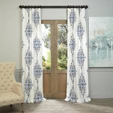 Exclusive Curtain Fabrics Designs Exclusive Fabrics Kerala Blue Printed Cotton Twill Curtain Panel