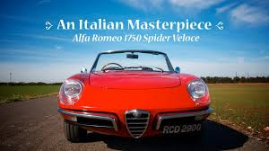 alfa romeo classic blue the alfa romeo 1750 spider veloce is an italian masterpiece youtube